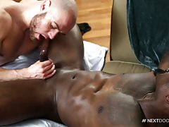 Darion pounds Brendan`s tight ass doggy style but that ass is just too tight and Darion wants to bust his nut immediately. Brendan who doesn`t want the night to end early starts sucking Darion again as to edge him even more before he blows his built up lo