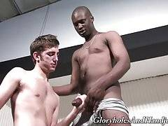 His rough hands knew their way around a black shaft and my cock began pulsating in anticipation of shooting out some jizz.